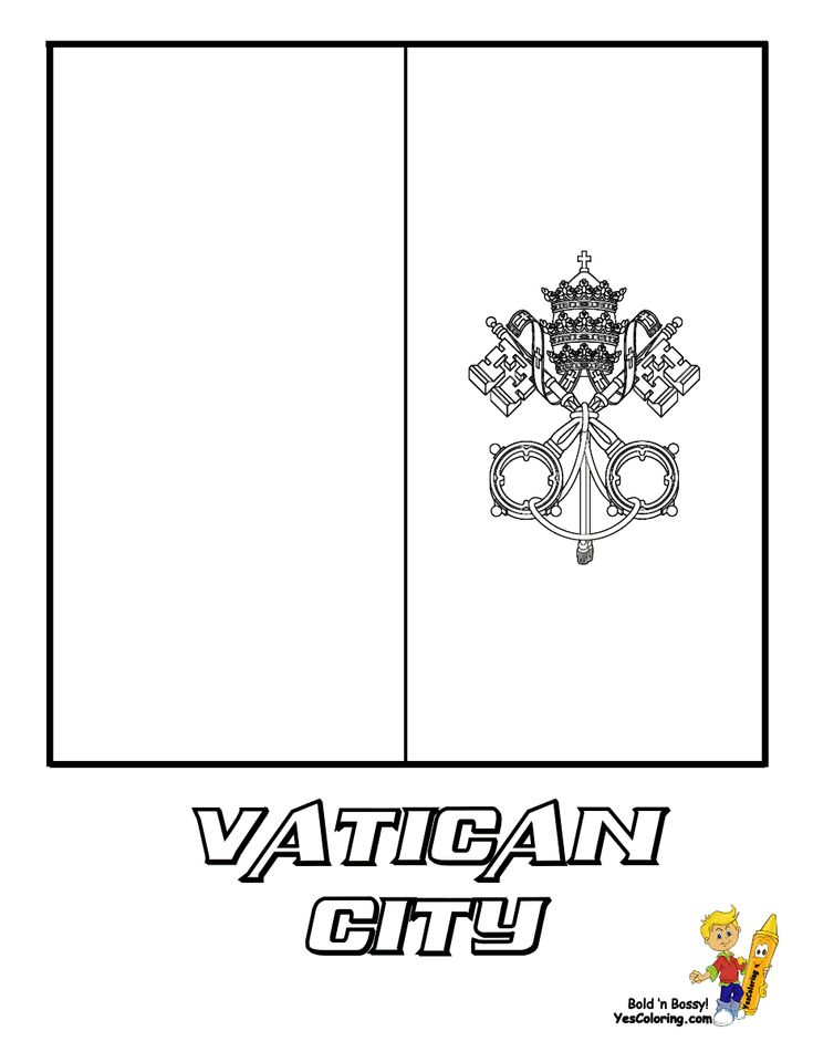 Vatican City Flag Coloring Page You Have All 195