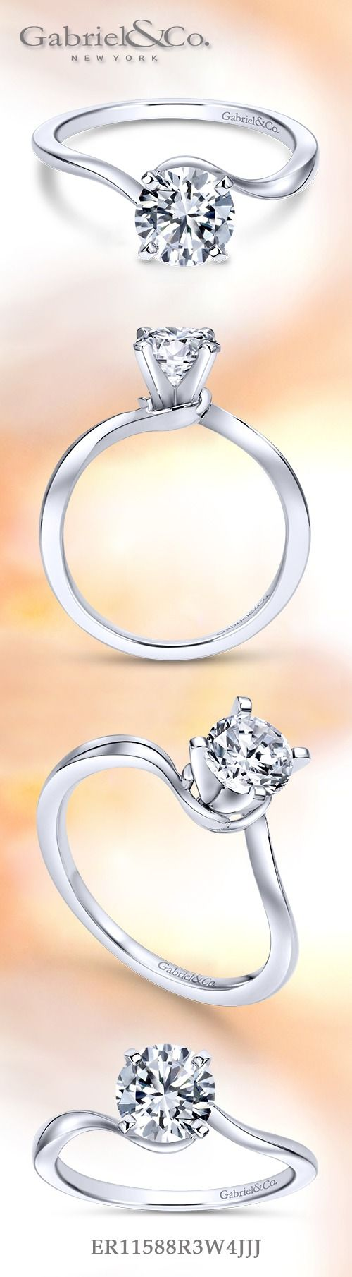 Gabriel & Co. - Voted #1 Most Preferred Fine Jewelry and Bridal Brand.  Meet Blair - This chic 14k White Gold Round Solitaire minimalist engagement ring truly lets your center stone shine.