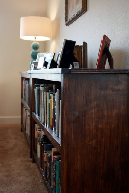 Homemade Bookshelves and an Organized Library