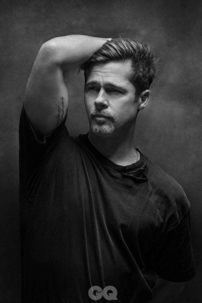 Brad Pitt for GQ // February 2017  photographed by Amanda Demme