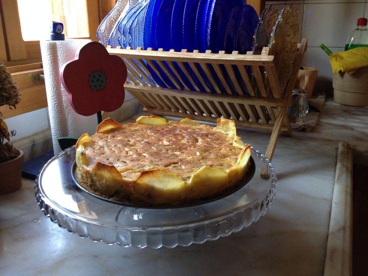 patatesli tart ..