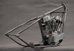 Kustom Store Motorcycles: Atelier KS: le Chopper de Christian pièce harley parts frame rigid bobber kustom custom détachée harley-davidson motorcycle