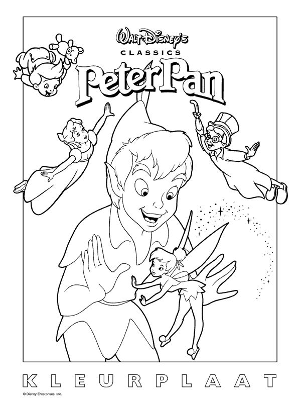 printable Peter Pan Coloring Pages for kids - Enjoy Coloring