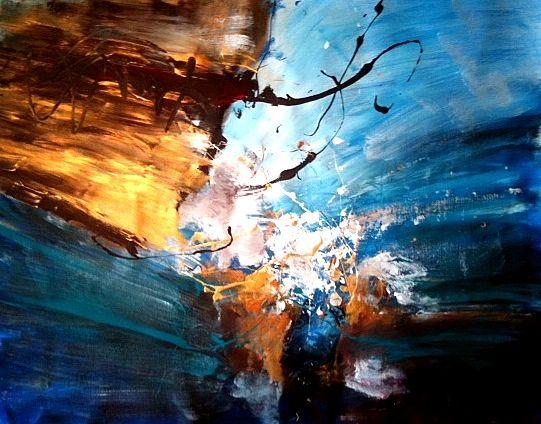The treasures of the sea, 2011, Dan Bunea, living abstract paintings