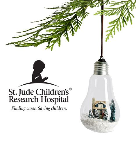 Craftsman Light Bulb Ornament In support of St. Jude Children's Research Hospital® E3027