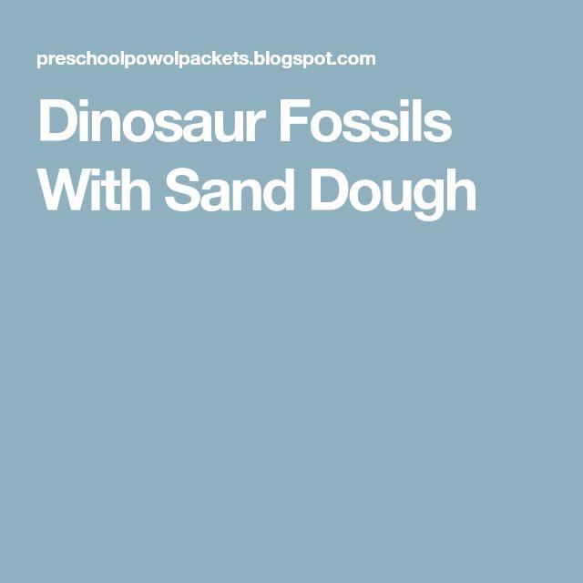 Dinosaur Fossils With Sand Dough