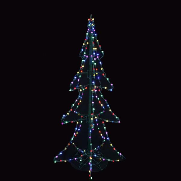 5 Panel Twinkling Led Lighted 3d Silhouette Christmas Trees Christmas Tree Silhouette Christmas Led Lights