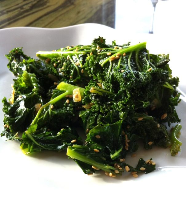 Braised Kale with Sesame Seeds