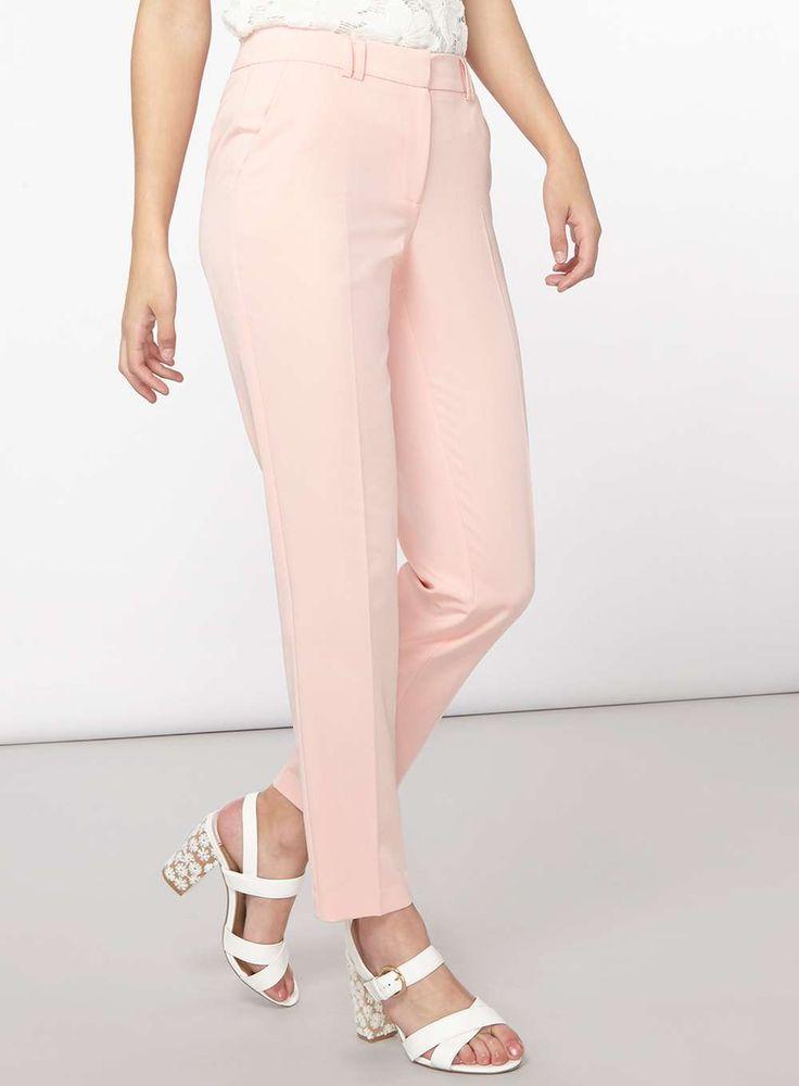 Womens **Tall Blush Ankle Grazer Trousers- Blush