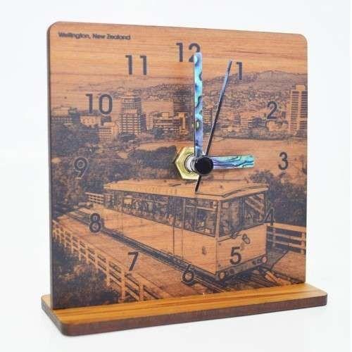 New Zealand Rimu Desk Clock - Wellington