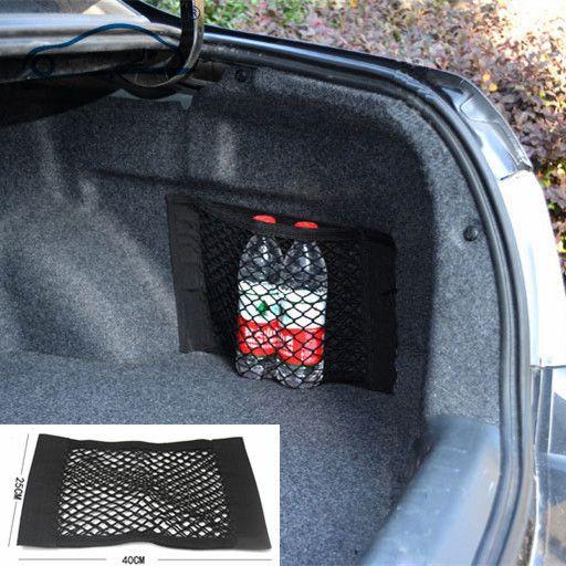 Bagagliaio di Un'auto per ricevere sacchetto contenuti negozio rete di storage/Immagazzinaggio del Sedile Netto Tasca a Rete Sticker Tronco Forte Nastro Magico