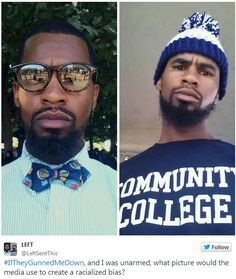 #iftheygunnedmedown attacks portrayals of black men killed by police (click thru for more)