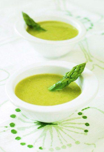 Crema de esparragos verdes