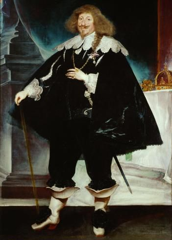 Portrait by Frans Luycx ca. 1639 of Tsar Władysław IV Vasa (9 Jun 1595-20 May 1648) Poland. He married 2nd 1645 Marie Louise-Ludwika Maria Gonzaga (18 Aug 1611-10 May 1667) France, child of Charles-Carlo I Gonzaga (1580-22 Sep 1637) France, Mantua, Italy & Catherine (1585-1618) France, of Guise. No children.