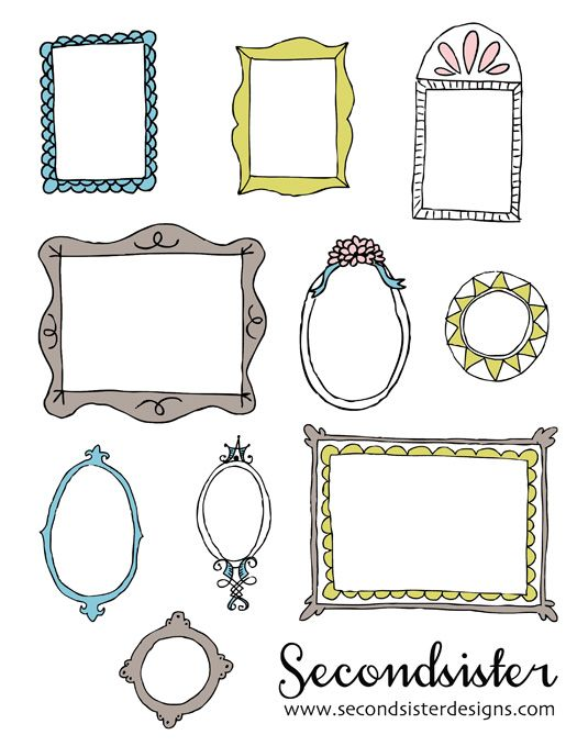 These are the cutes freebie photo frames I've found!  secondsister suaviloquy: free download! sketchy digital frames