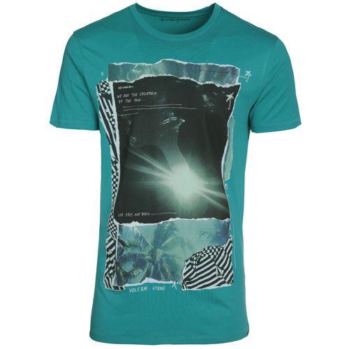 VOLCOM Sun Children Tee T-shirt Green Small-Medium-Large Short Sleveve  #Volcom #GraphicTee