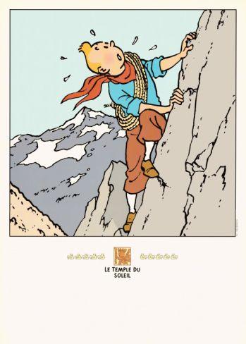 Le Temple de Soleil: Tintin on the Mountain Print by Hergé (Georges Rémi) at Art.com