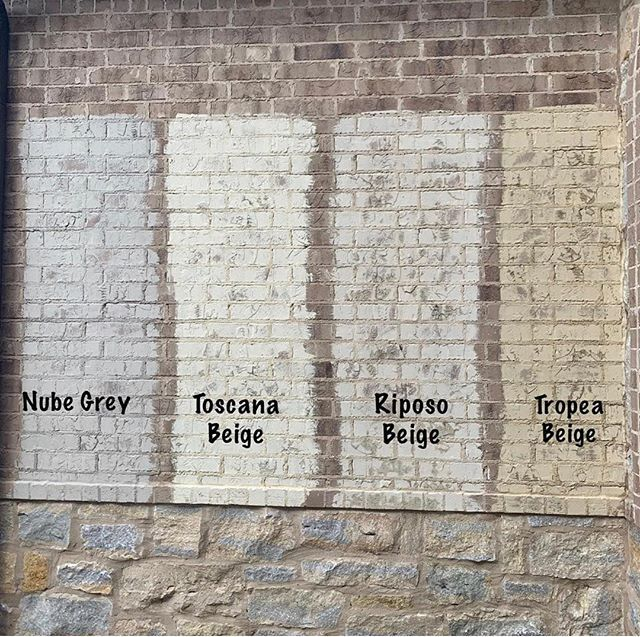 White Wash Brick Exterior Before After