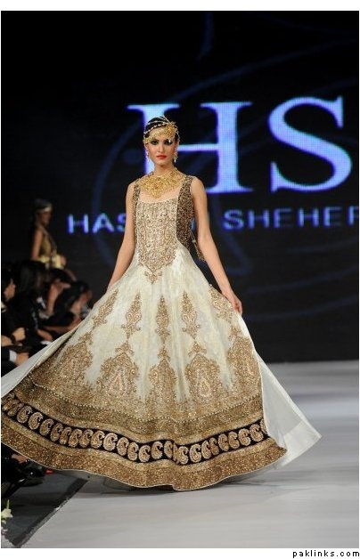 White Zardozi Anarkali for a south Asian bride