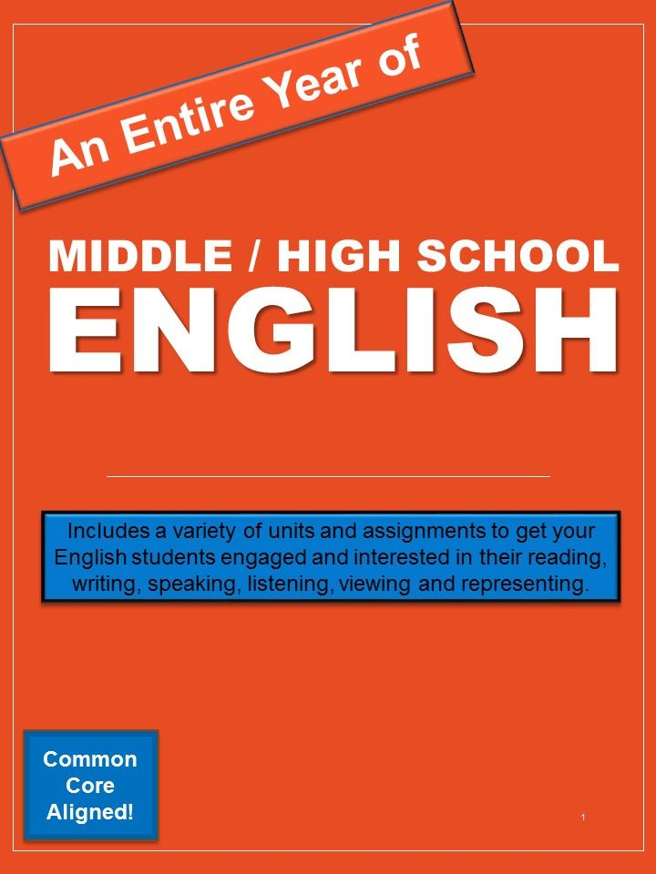 Need an entire year of middle or high school English? Contains so many printable activities and workbooks!