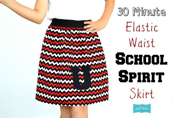 30 Minute Elastic Waistband School Spirit Skirt