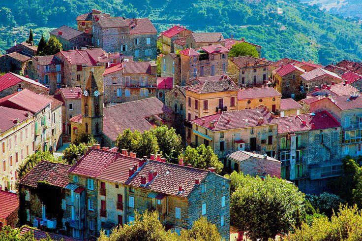Village de Sainte Lucie de Tallano Corsica France