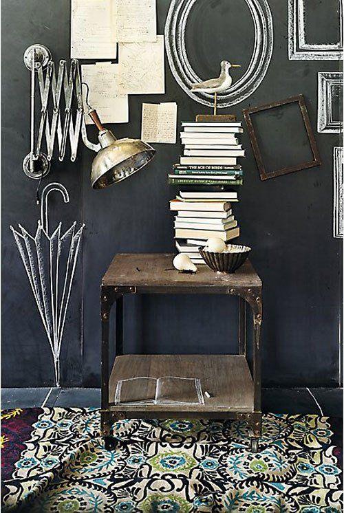 Meer dan 1000 idee n over schoolbord verf op pinterest schoolbord muur krijtbord muren en - Deco buitenkant idee ...