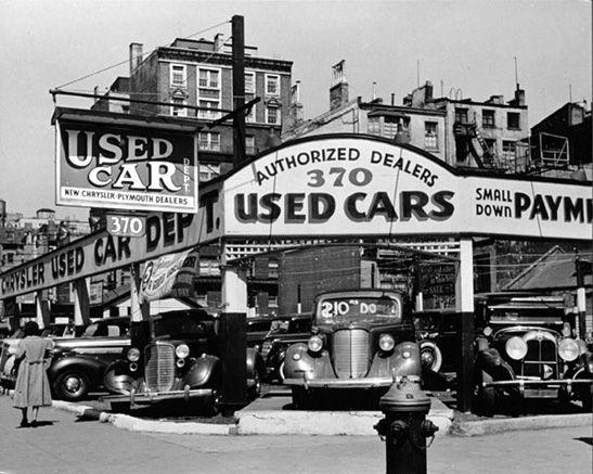 Seventh Avenue 1930's New York City.