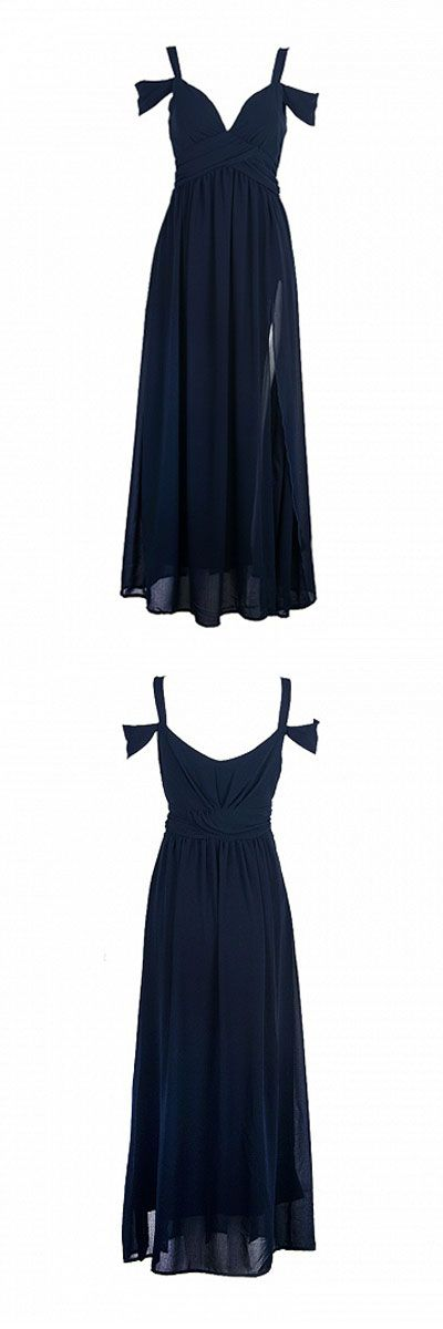 ocassion maxi dress split high waist - for parties and occassions - for sale today! 2 colors: red and navy blue