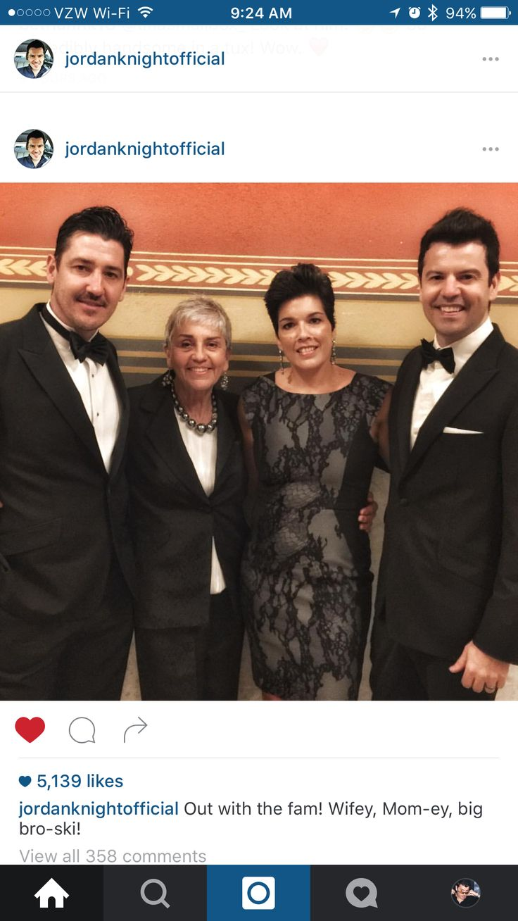 Jordan, his wife, mom, and Jon