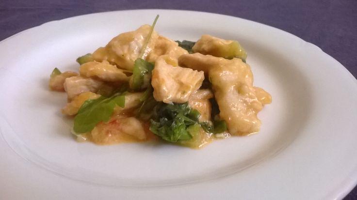 Petto di #pollo con #zucchine e rucola