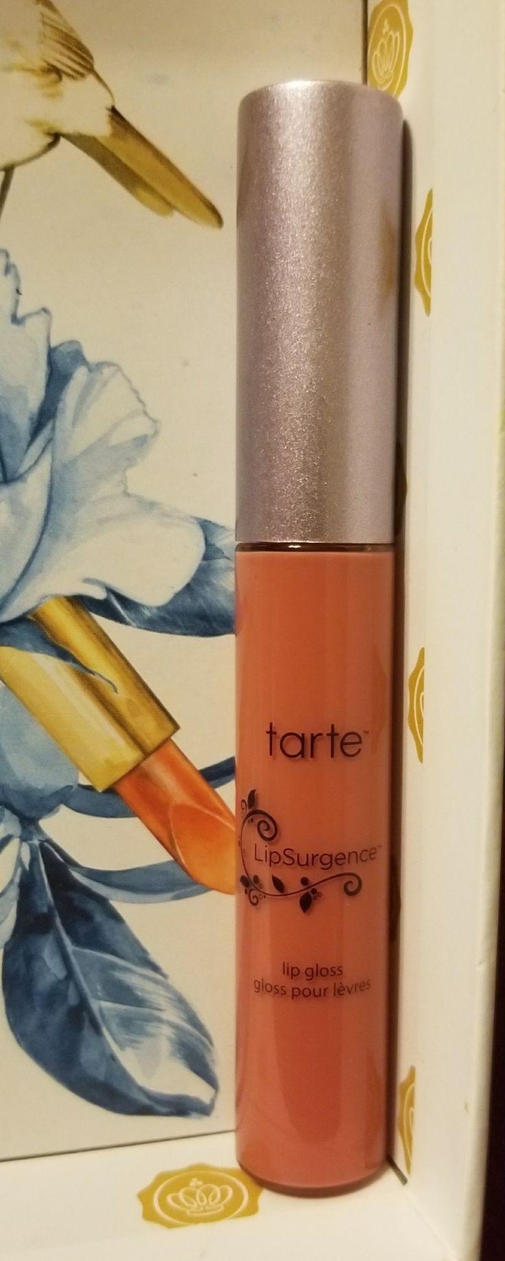 Swatched Tarte Lipsurgence Lip Gloss.