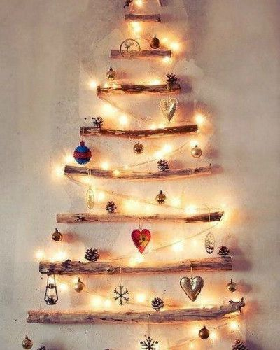 Wall Christmas Trees Ideas ‹ Home N Crafts