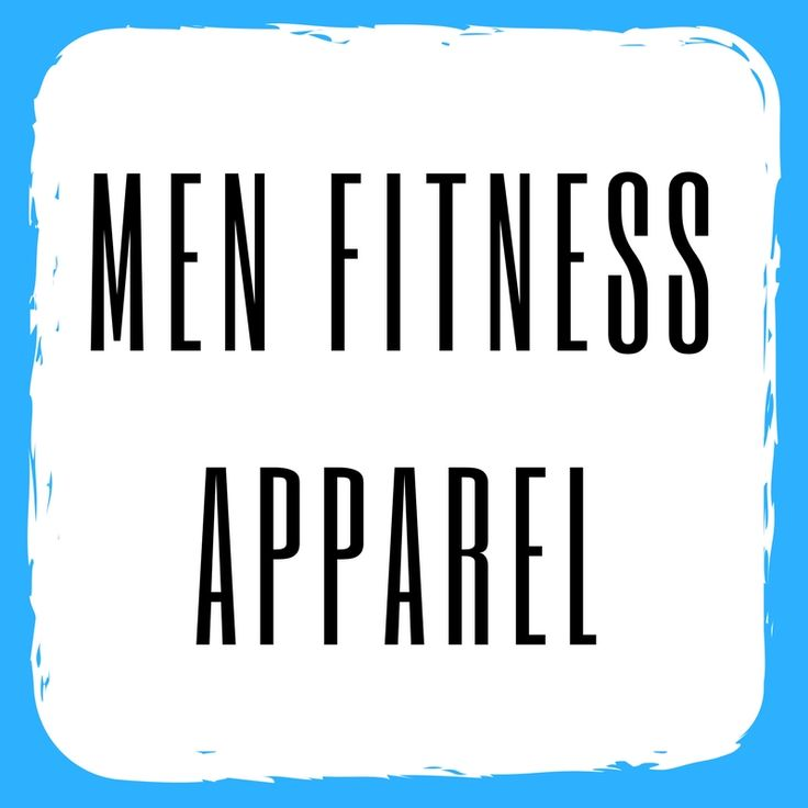 Men's workout clothes and fitness apparel.