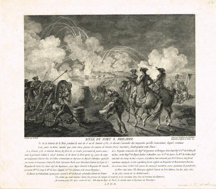 Siège du Fort Saint-Philippe le 4 février 1782