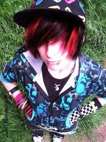 Astounding Zakki Masquerade Emo Boy Red And Black Hair Emos Pinterest Hairstyles For Women Draintrainus