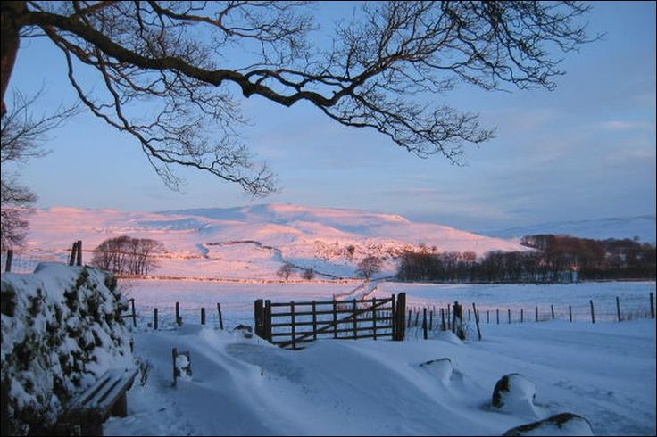 Snow on Malham Moor, North Yorkshire