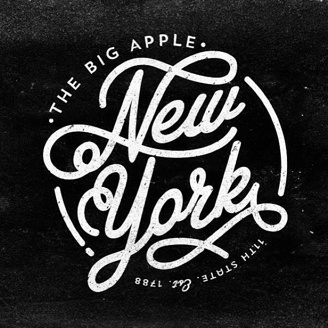 23 Best New York Lettering Typography Images On