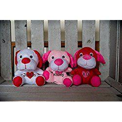Personalized Plush Puppy, Personalized Stuffed Puppy, Personalized Stuffed Toys, Valentines Day, Valentine Day gift, Valentine Puppy