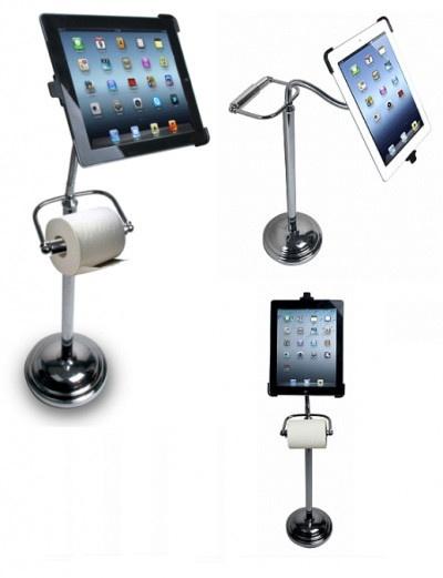 Insolite : Un porte iPad ... pour les toilettes.