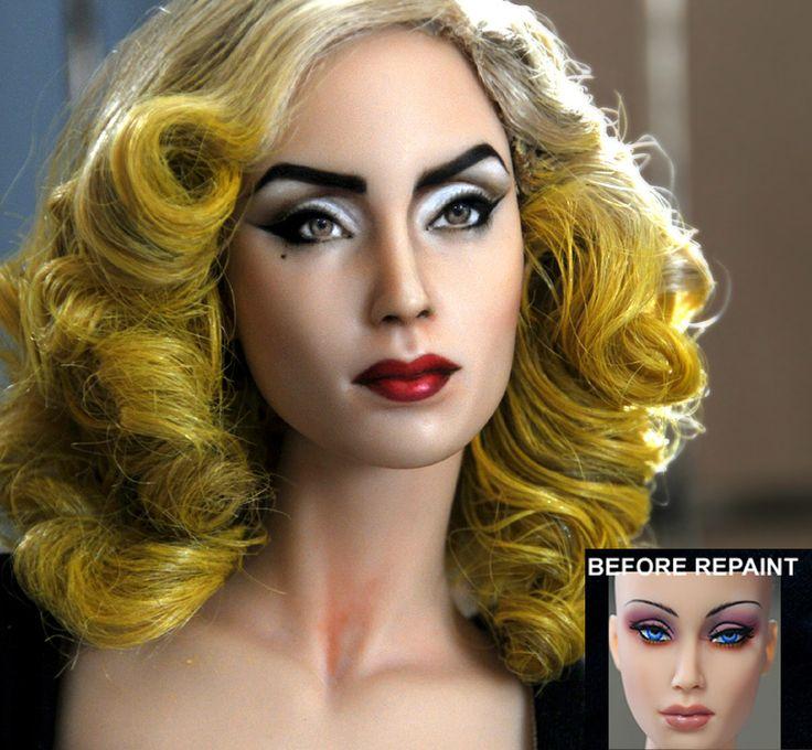 custom doll repaint Lady Gaga - Telephone by noeling.deviantart.com on @DeviantArt