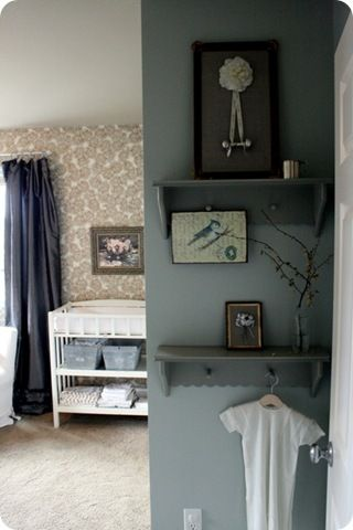 We have this small wall by our door... great decorating idea