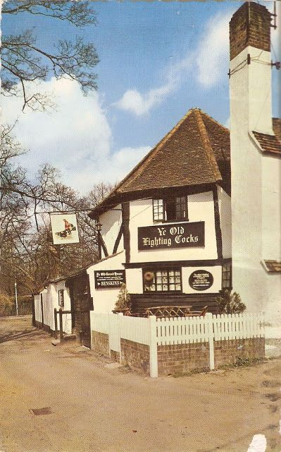 ~Ye Old Fighting Cocks St Albans, Hertfordshire, said to be the oldest pub in the UK, dates from 793, it is thought that there are tunnels running between the Cathedral and the pub's beer cellars which were once used by monks~