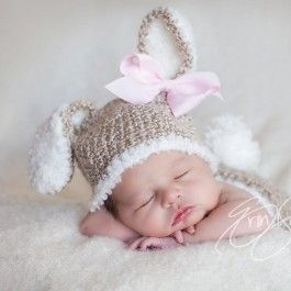 Baby+Bunny+Hat+and+Diaper+Cover+Crochet+Set-Perfect+for+Newborn+$51.00