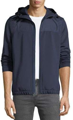 e4e33e4909897 Men s Sporty Scuba Zip-Front Hoodie Jacket in 2018   Products   Pinterest    Hoodies, Jackets and Michael kors men
