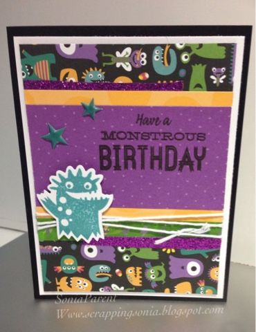 Scrapping Sonia's Paper Projects: HOTW Jeepers Creepers Blog Hop