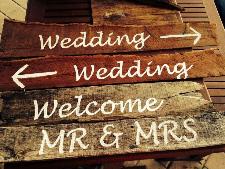 My wedding signs I made