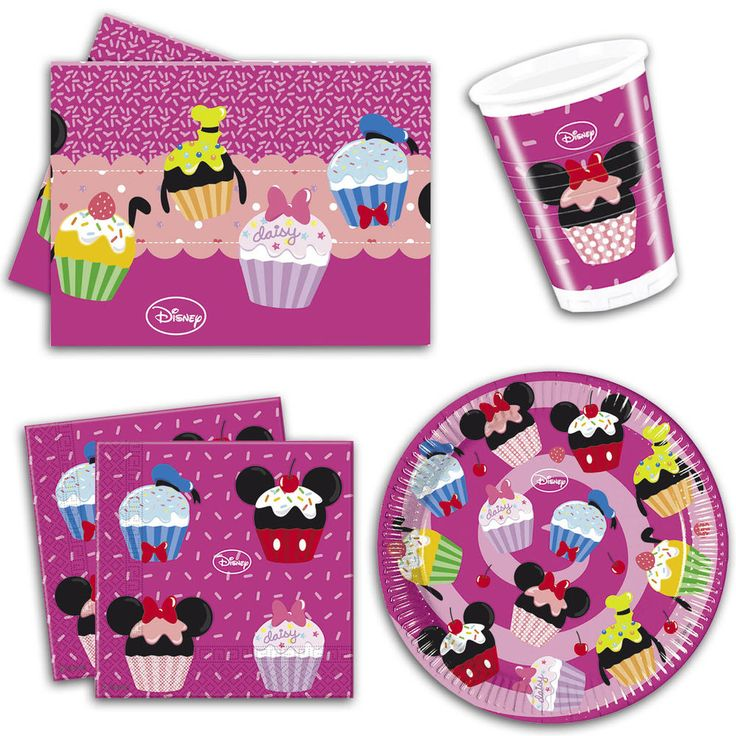 Disney Minnie Mouse Sweet Treats Pink Party Plates Napkins Tableware Listing #Unique #BirthdayChild