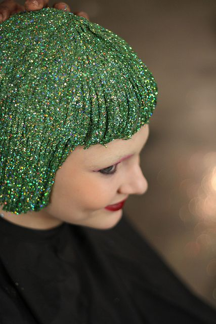 Green glitter hair! Magical!