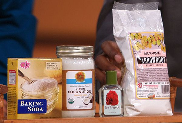 Make your own all-natural deodorant at home.